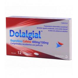 Dolalgial ibuprofeno/cafeína 400mg/100mg 12 comprimidos