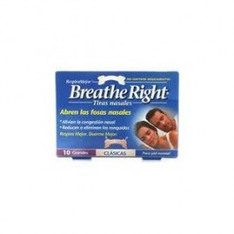 Breathe Right 10 tiras nasales clásicas grandes