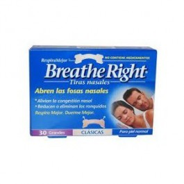 Breathe Right 30 tiras nasales clásicas grandes