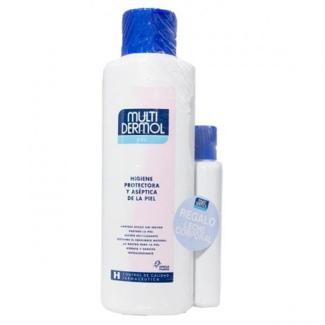 Pack Multidermol gel 200ml. 2 uds. + leche hidratante 250 ml.