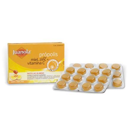 Pastillas Juanola Própolis con Miel, Zinc y Vitamina C