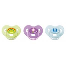 Chupete anatómico de látex 6-12 meses 0%BPA 2 uds. Acofarbaby