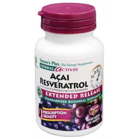 Açai Resveratrol 30 comp. Nature's Plus
