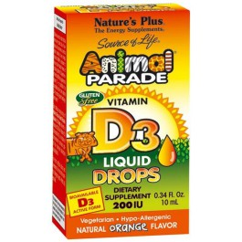 Animal Parade Vitamina D3 10ml. Nature's Plus