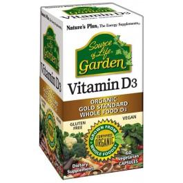 Vitamina D3 Garden 60 cáps. Nature's Plus