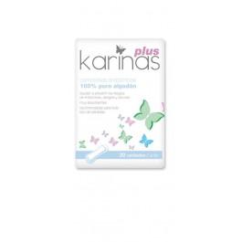 Compresas Karinas Plus 100% algodón 20 uds. Acofarma