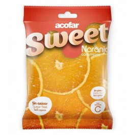 Caramelos naranja 60g. Acofarsweet