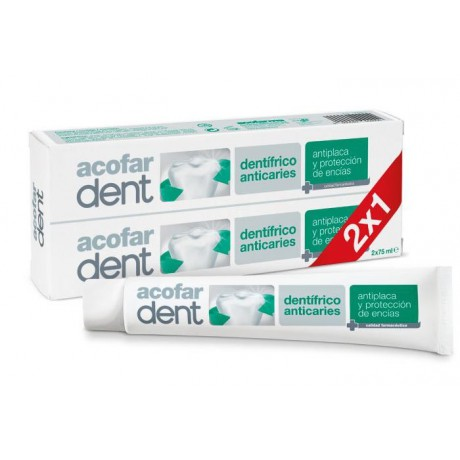 Dentífrico anticaries 2x75ml. Acofardent