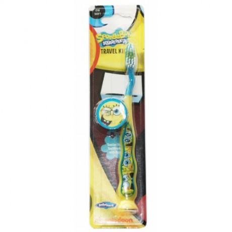 Cepillo de dientes Bob Esponja con capucha