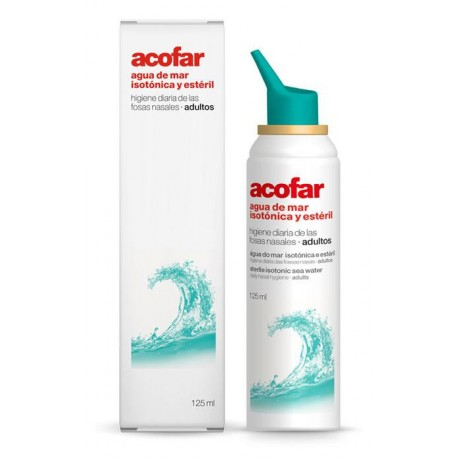 Agua de mar isotónica y estéril adultos 125ml. Acofarma